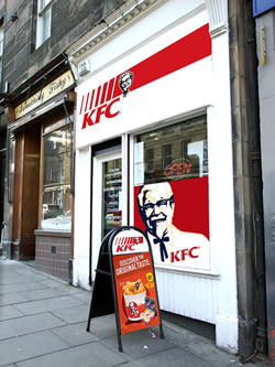 Chequers as it would be if taken over by KFC