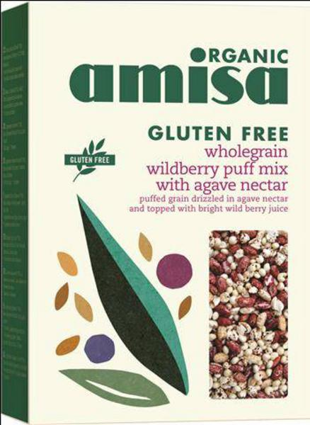 Wild Berry Puffed Cereal with Agave Nectar Gluten Free, ORGANIC