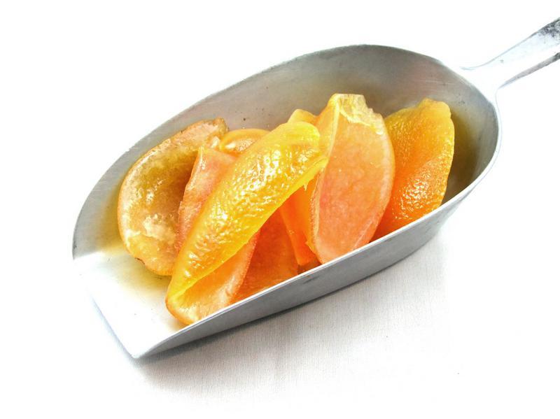 Candied Orange Peel Caps