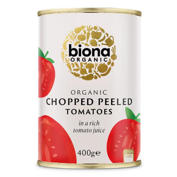 Organic Chopped Peeled Tomatoes in 400g can from Biona600 x 600 jpeg 33kB