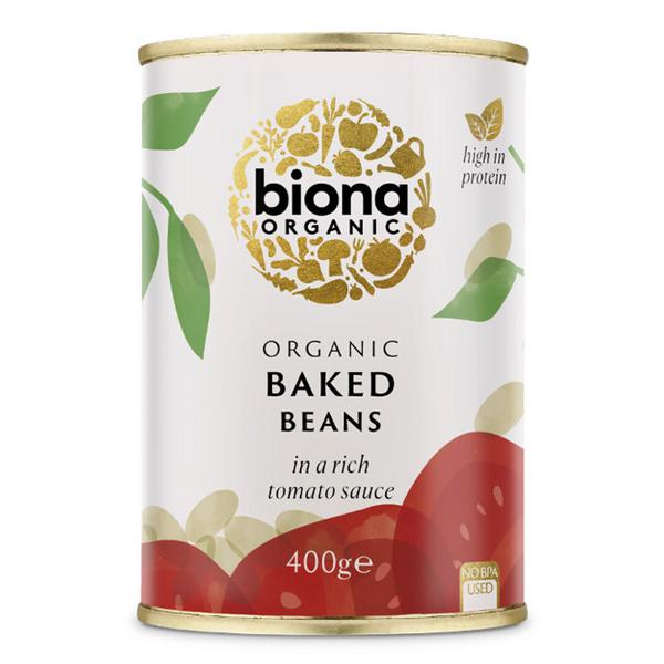 Organic Baked Beans in Tomato Sauce in 400g can from Biona