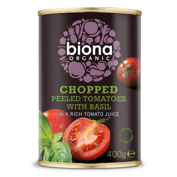 Chopped Tomatoes with Basil ORGANIC