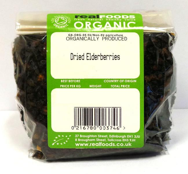 Dried Elderberries ORGANIC