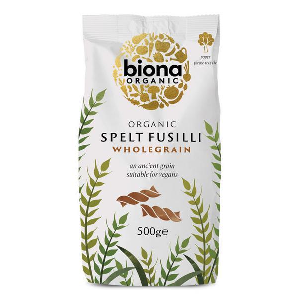 Spelt Fusilli Wholewheat Pasta ORGANIC