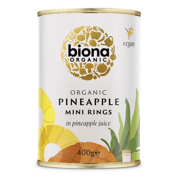 Mini Pineapple Rings in Juice ORGANIC