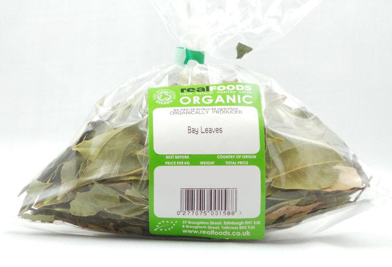 Organic Bay Leaves From Real Foods Buy Bulk Wholesale Online
