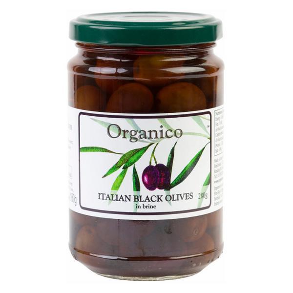 Whole Black Olives in Brine & Herb ORGANIC