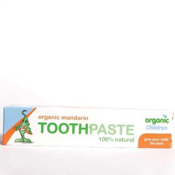 Children Mandarin Toothpaste ORGANIC image 2