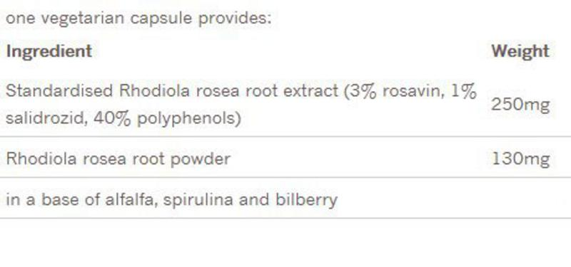 Rhodiola Rosea Root Maximum Potency Supplement  image 2