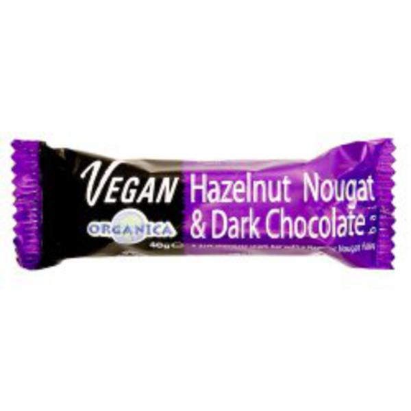 Hazelnut & Nougat Dark Chocolate Vegan, FairTrade, ORGANIC