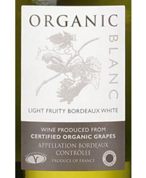 Organic Blanc Wine Sauvignon Blanc 12% France ORGANIC image 2