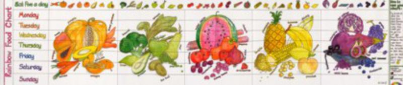 Rainbow Food Activity Wallchart
