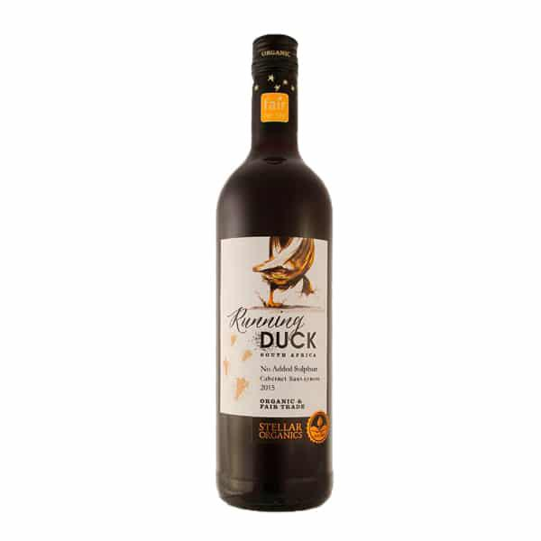 Red Wine Cabernet Sauvignon South Africa Running Duck 13.5% Vegan, FairTrade, ORGANIC
