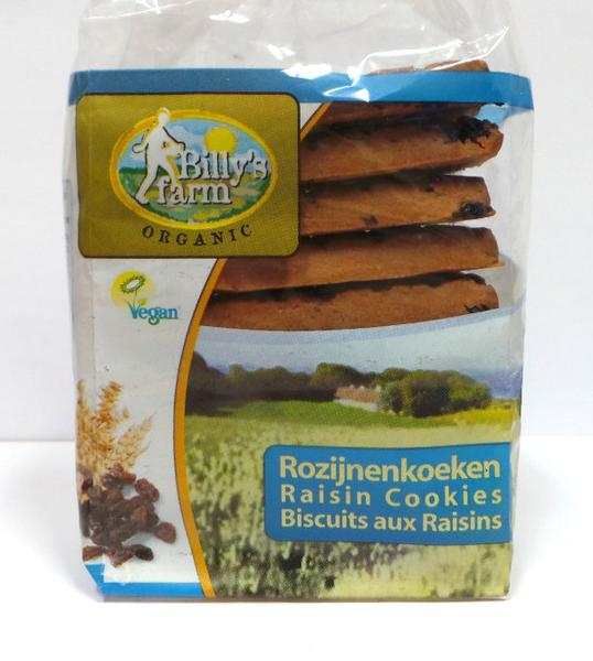 Raisin Cookies Vegan, ORGANIC
