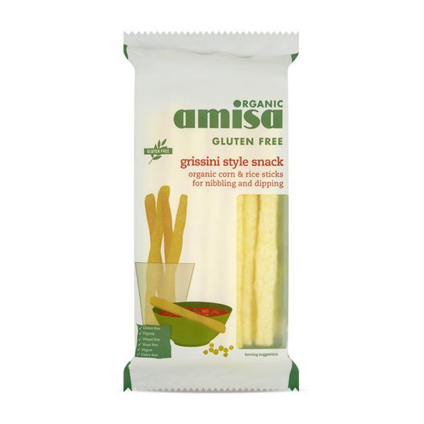 Corn & Rice Grissini Breadsticks Gluten Free, yeast free, ORGANIC