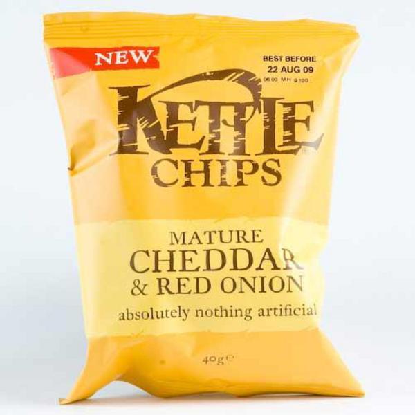 Kettle crisps mature cheddar