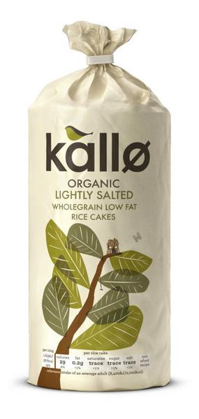Organic Rice Cakes In 130g Packet From Kallo Foods