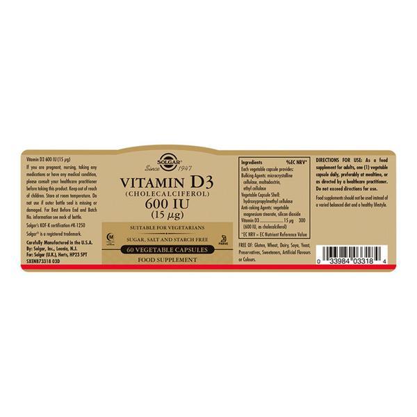 Vitamin D 3 600iu Cholecalciferol 15ug  image 2