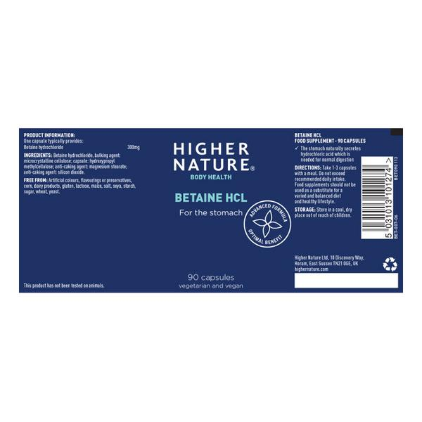 Betaine HCL Supplement dairy free image 2