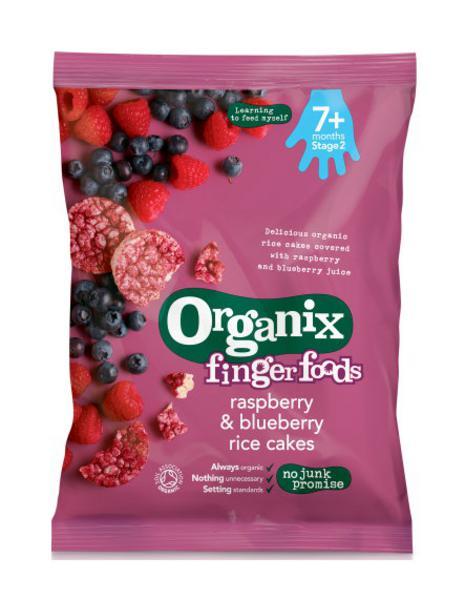 Raspberry & Blueberry Rice Cakes Gluten Free, ORGANIC