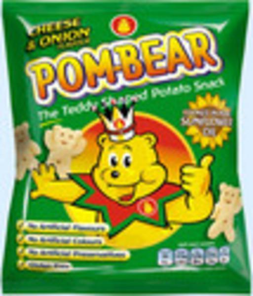 Pom Bear Cheese & Onion Crisps Gluten Free 19g
