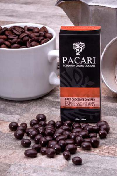 Dark Chocolate Covered Espresso Coffee Beans 60% dairy free, Vegan, ORGANIC