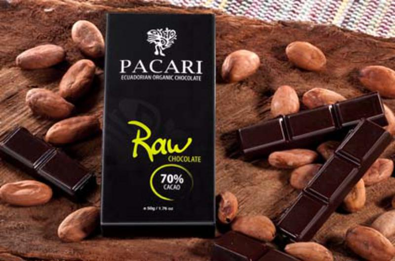 Organic raw chocolate 70 in 50g bar from pacari for Raw food bars uk