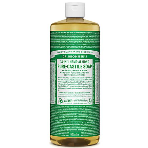 Almond Castile Liquid Soap Vegan, FairTrade, ORGANIC