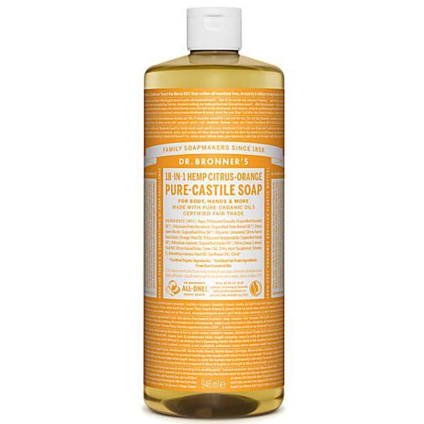 Citrus Castile Liquid Soap Vegan, FairTrade, ORGANIC