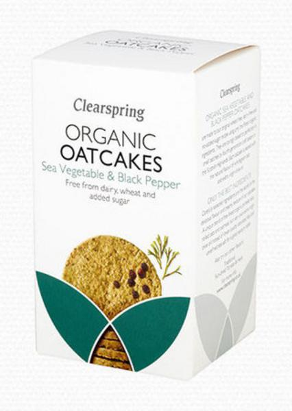 Sea Vegetable & Black Pepper Oatcakes dairy free, no added sugar, wheat free, ORGANIC
