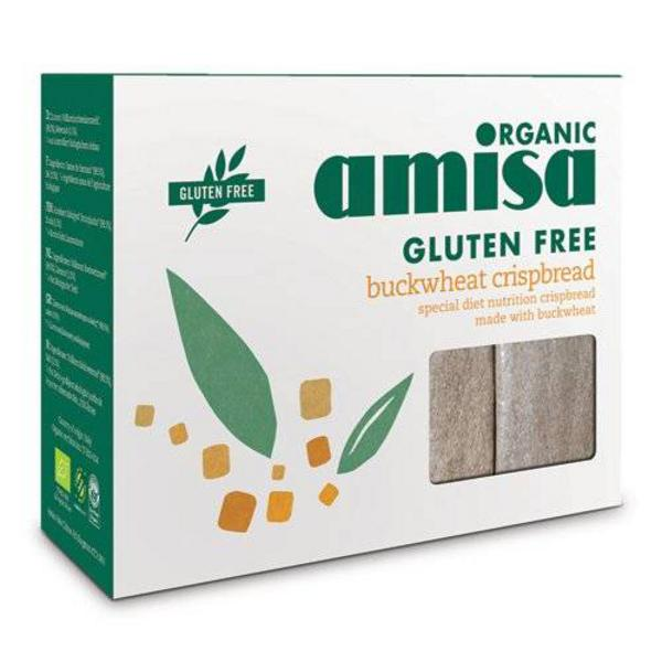 Wholegrain Buckwheat Crispbreads dairy free, low fat, Gluten Free, yeast free, wheat free, ORGANIC