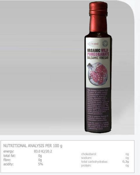Wild Pomegranate Vinegar ORGANIC