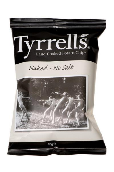Naked Potato Chips no added salt, Vegan