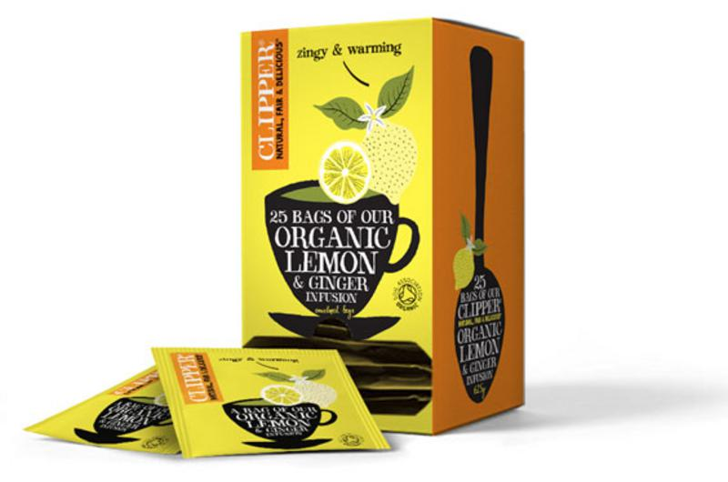 Lemon & Ginger T-Bags Decaffeinated, FairTrade, ORGANIC