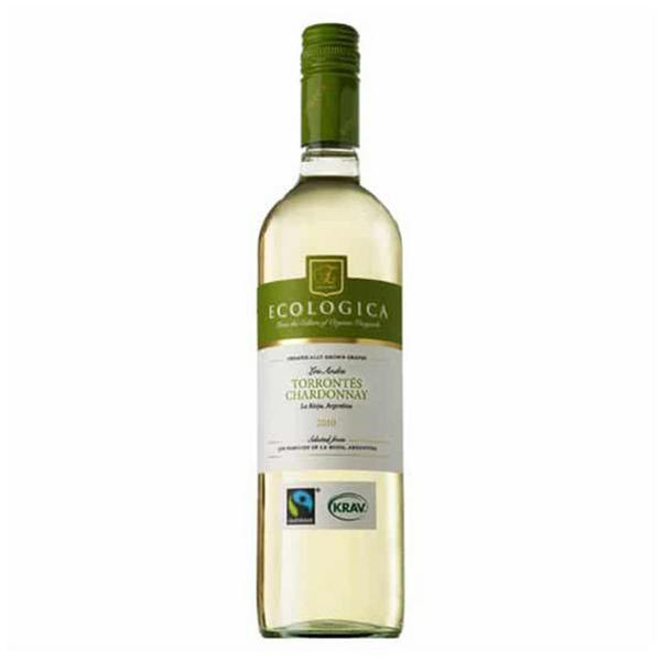 White Chardonnay Wine Ecologica Argentina Torrontes FairTrade, ORGANIC