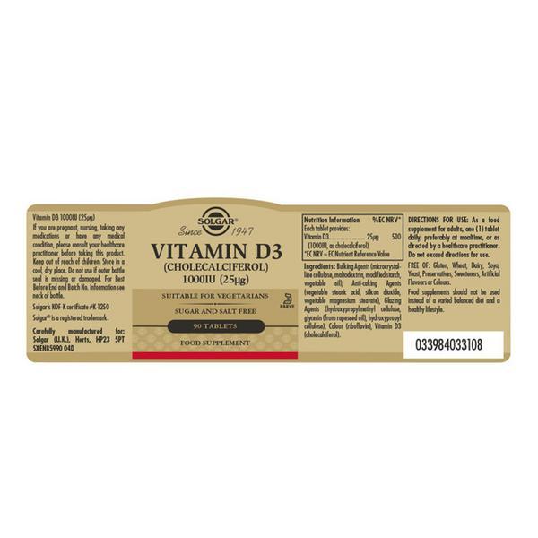 Vitamin D 3 Cholecalciferol 1000iu 25ug  image 2
