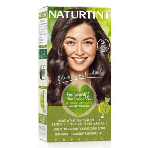 Permanent Hair Colourant Light Chestnut Brown 5N Vegan