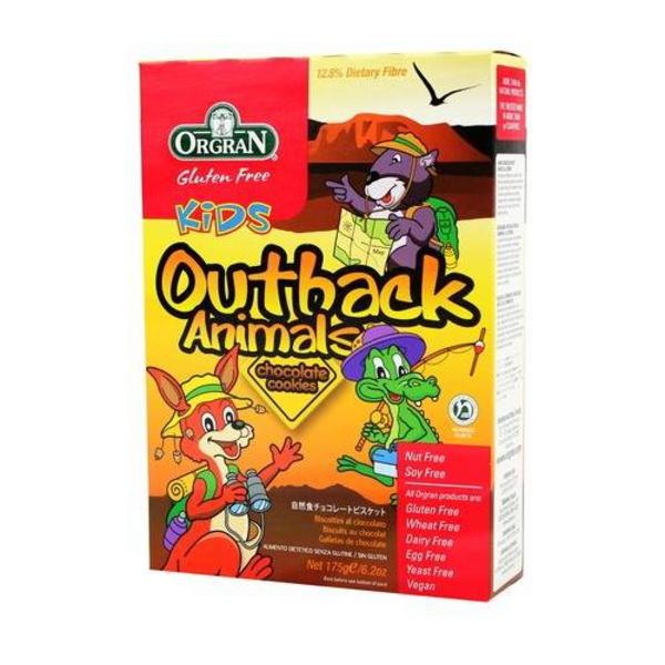 Outback Animals Chocolate Cookies Gluten Free, Vegan