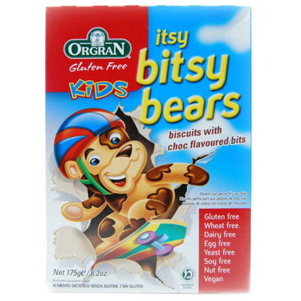 Itsy Bitsy Bears Biscuits Chocolate Gluten Free, Vegan