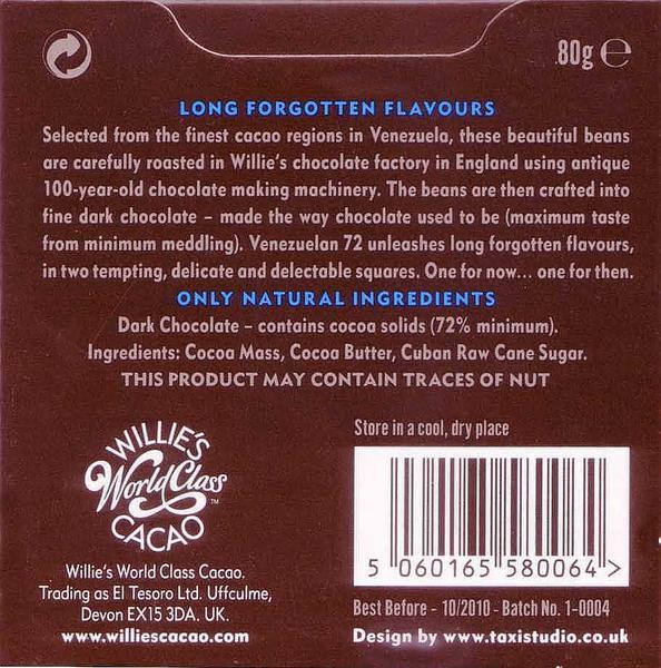 Venezuela 72% Dark Chocolate Rio Caribe Superior Vegan image 2