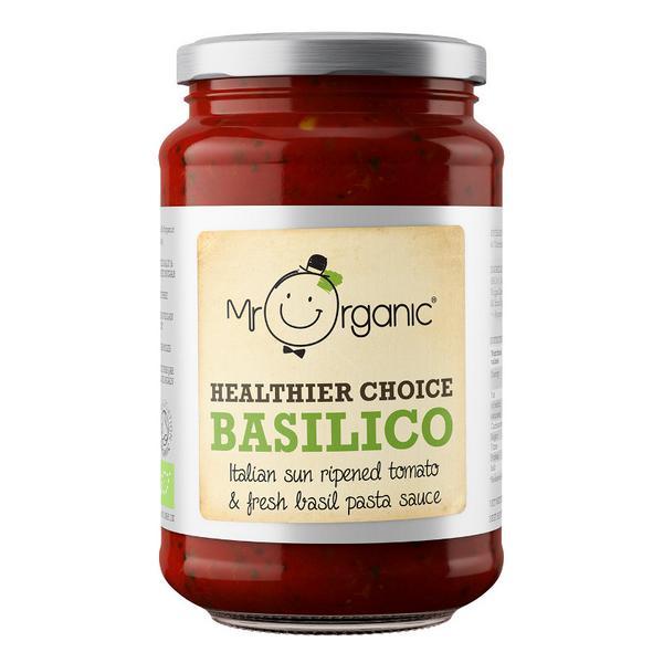 Basil & Tomato Pasta Sauce low fat, Gluten Free, Vegan, ORGANIC