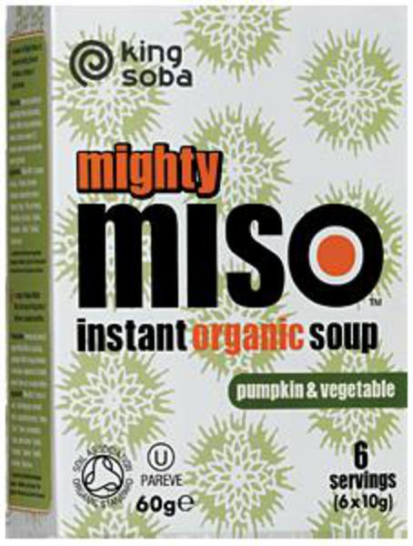 Pumpkin & Vegetable Miso Soup Gluten Free, wheat free, ORGANIC