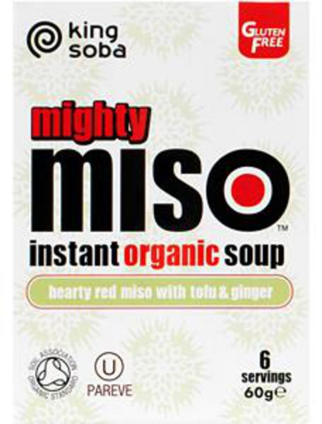 Organic Tofu and Ginger Miso Soup in 60g from King Soba