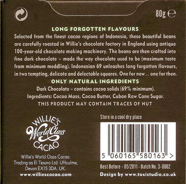 Indonesia 69% Dark Chocolate Javan Light Breaking Vegan image 2