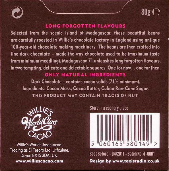 Madagascar 71% Dark Chocolate Sambriano Superior Vegan image 2