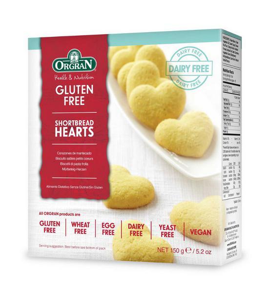 Shortbread Hearts Gluten Free, Vegan