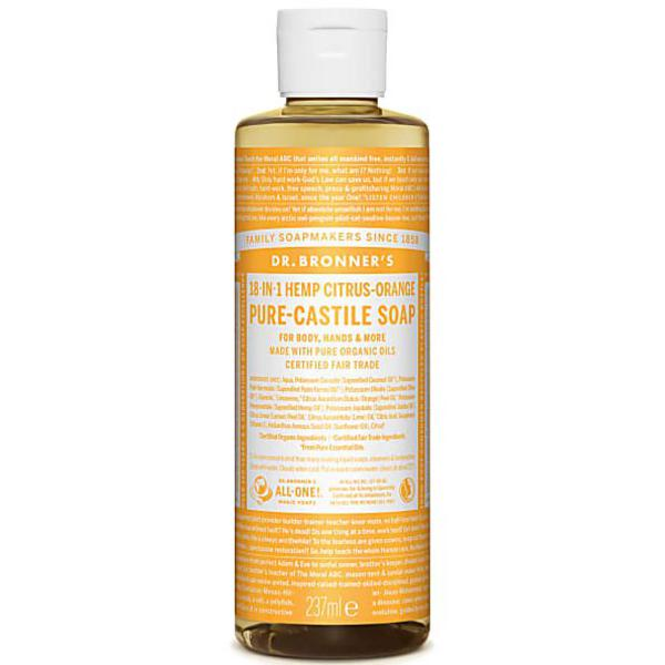 Citrus Castile Liquid Soap Vegan, FairTrade, ORGANIC