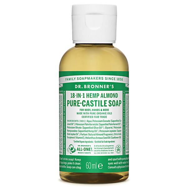 Almond Castile Liquid Soap Vegan, FairTrade, ORGANIC