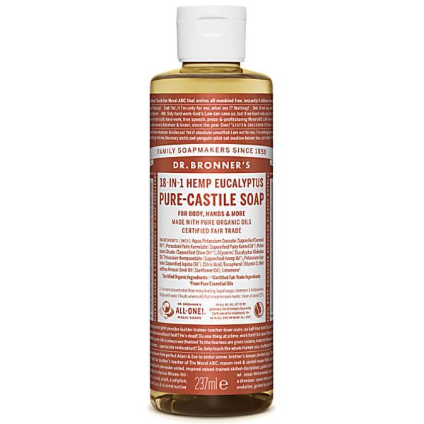 Eucalyptus Castile Liquid Soap Vegan, FairTrade, ORGANIC