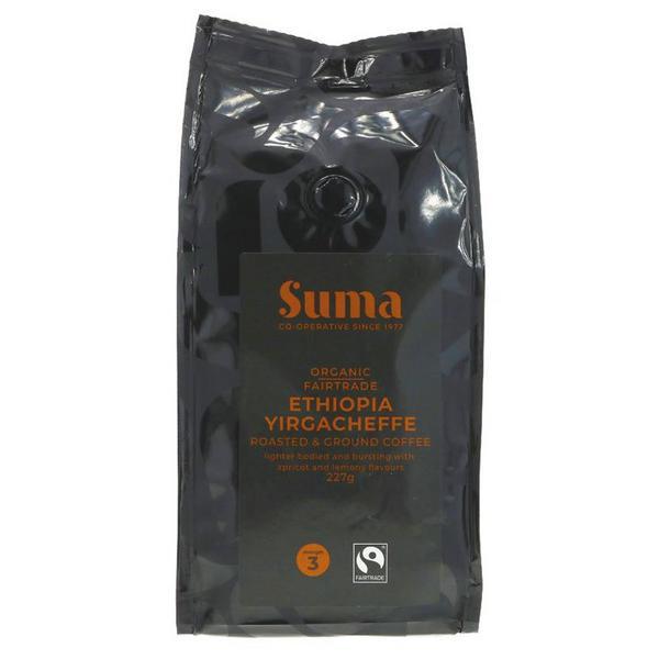 Ethiopia Yirgacheffe Ground Coffee FairTrade, ORGANIC